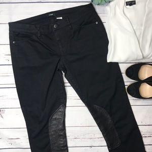 {J. Crew} sz 30 black toothpick riding pants